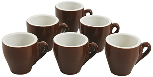 Galileo Casa 2150013 Set 6 tasses à café, porcelaine, brun, 6 unités
