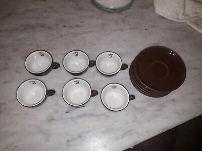 Caffé LAVAZZA - 6 tasses TAZZINA- Barre vintage -COFFEE CUP des années 1960 impossible à trouver