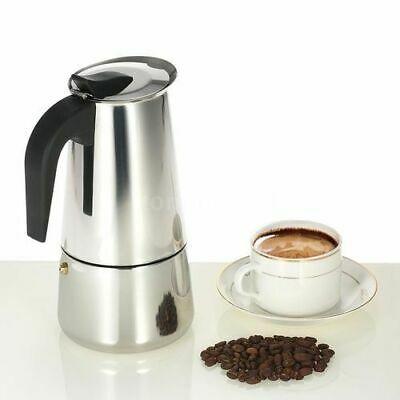 Machine à café expresso Maker 4 Machine à poignée en métal en acier inoxydable de 6 tasses