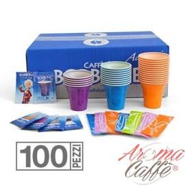 Bourbon Kit de 100 Pcs (GLASSES-SUGAR-PALLET)