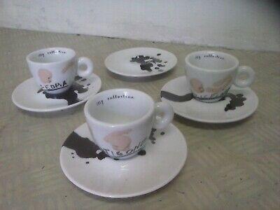 Tasses Illy Collection Jannis Kounellis 2005 café cappuccino TASSE À L'ESPRESSO