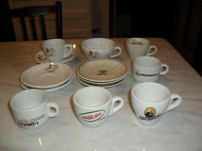 Lot à collectionner 7 tasses à café et 6 soucoupes