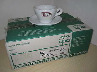 INCAS COFFEE Lucca BAR SERVICE 6 Tasses Tasses à Cappuccino Tasses à Thé Cappuccino