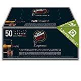 Caffè Vergnano 1882 Capsules de café expresso compatibles Nespresso, Intenso - Paquet de 50 capsules