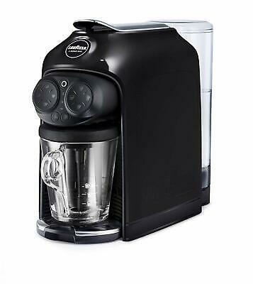 Machine à café à capsules à encre noire Lavazza Desea avec cappuccinateur et tasse