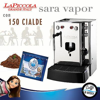 MACHINE À CAFÉ PODS La petite SARA VAPOR avec BORBONE bleu