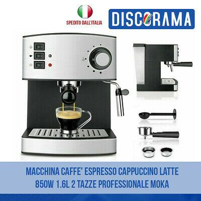Machine à café espresso Cappuccino Latte 850W 1.6L 2 tasses Moka professionnel
