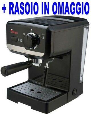 Cafetière à espresso et dosettes de café et de papier Luss en poudre à cappuccino