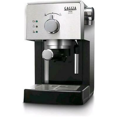 Gaggia Viva Deluxe Machine à Café Espresso Manuelle Couleur Noir Argent