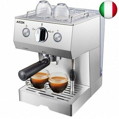 Machine à café Aicok, manuel de la machine à café expresso italien avec pompe à 20 bars