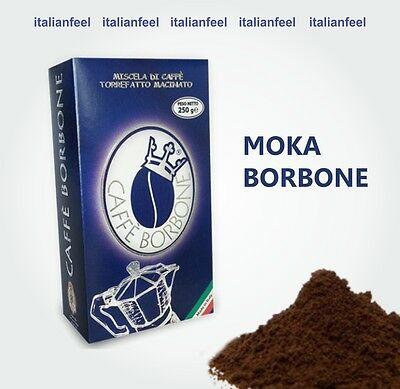 500Gr (2X250Gr) de café moulu Bourbon moulu, mélange crémeux bleu à l'italienne