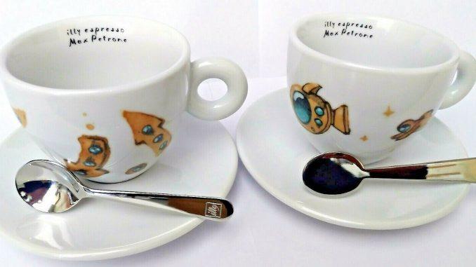 <pre><pre>2 tasses à café Cappuccino illy tasses à expresso Max Petrone café espresso 2019 café - 23,90 EUR