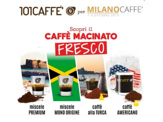 MilanoCaffè 2019: 101Caffè présente sa gamme fraîchement moulue
