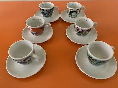 Tasses à café et soucoupes Collection Illy 1996 vidéogrammes numérotés Nam June Paik