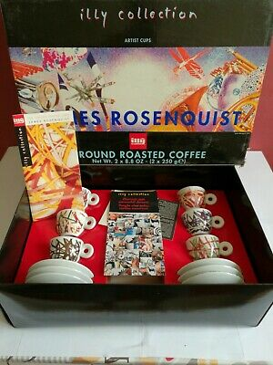 6 tasses ILLY COLLECTION - JAMES ROSENQUIST - 1996