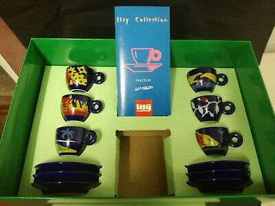 Ensemble Illy Caffè Collection Tasses Luca Trazzi 1994 Café italien fabriqué en Italie