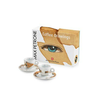 Illy Set 2 tasses à café expresso Collection Art Collection Max Petrone
