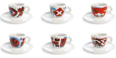 Illy Collection 1997 Tasses à café Roma Aeterna - A.R.Penck