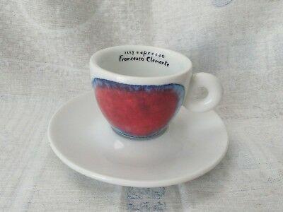 Collection de tasses et soucoupes en céramique expresso Illy FRANCESCO CLEMENTE