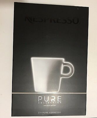 2x Pure Espresso - Collection Nespresso PURE - 2 tasses à café