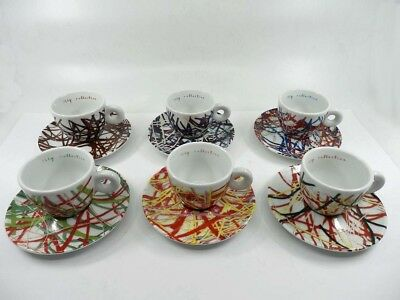 ILLY COLLECTION 1996 JAMES ROSENQUIST 6 Tasses à café expresso