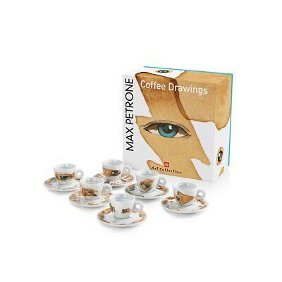 Illy Set de 6 tasses à café expresso Art Collection Collection Max Petrone