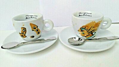 2 tasses tasses illy expresso café Max Petrone coffret café + cucchaini