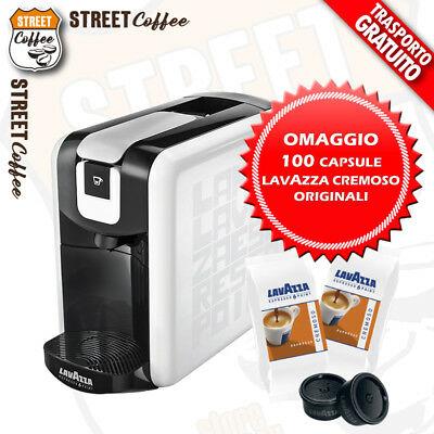 Lavazza Machine à capsules de dosettes de café expresso Point Ep mini + 100 capsules crémeuses