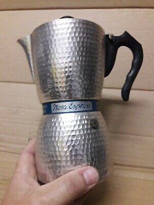 CAFFETTIERA Caffe 6? NOVA ESPRESS CUPS irmel martelé pas de faema gaggia pavoni