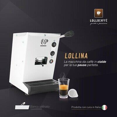 Machine à café ESE44mm pour dosettes LOLLINA + 40 dosettes Lollo free-White