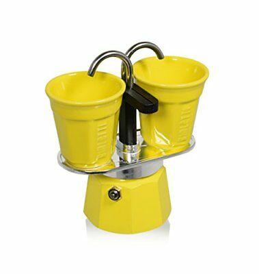 Ensemble pour expresso Bialetti Mini Express, jaune