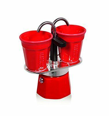 Bialetti Set Mini Express avec 2 Tasses à Espresso, Rouge