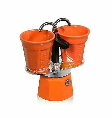 Bialetti 0006191 Machine à café italienne Set Mini Express 2 Tasses Orange Alu