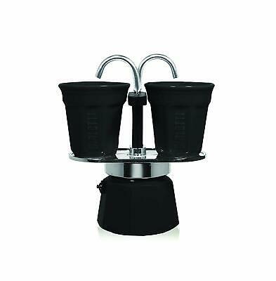 Bialetti 0006195 Service à Café Italien Mini Express 2 Tasses En Aluminium Noir