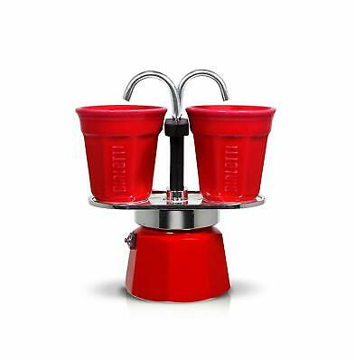 Bialetti Mini Express Set, Machine à café en aluminium rouge de 2 tasses
