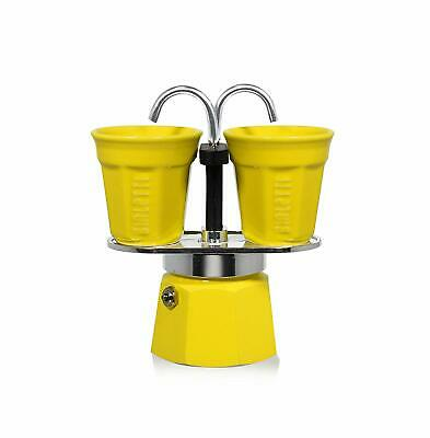 Bialetti 0006193 Set de Machine à Café Italienne Mini Express 2 Tasses Jaune