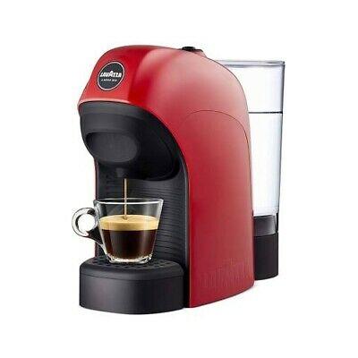 Une machine à café rouge Modo Mio Lavazza Coffee