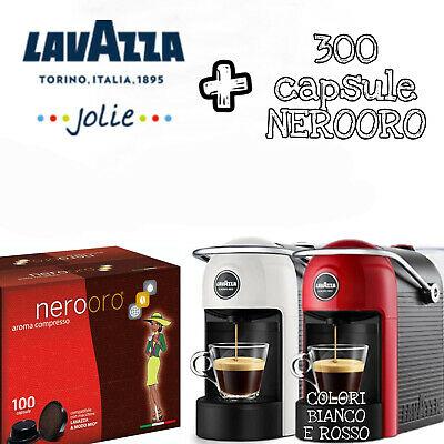 LAVAZZA JOLIE Une machine à café Modo Mio + 300 capsules de mélange d'or NeroOro