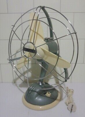 Ettore Marelli Vintage Ventilateur Mod. 0 304 Fabriqué en Italie Fan Design 1953