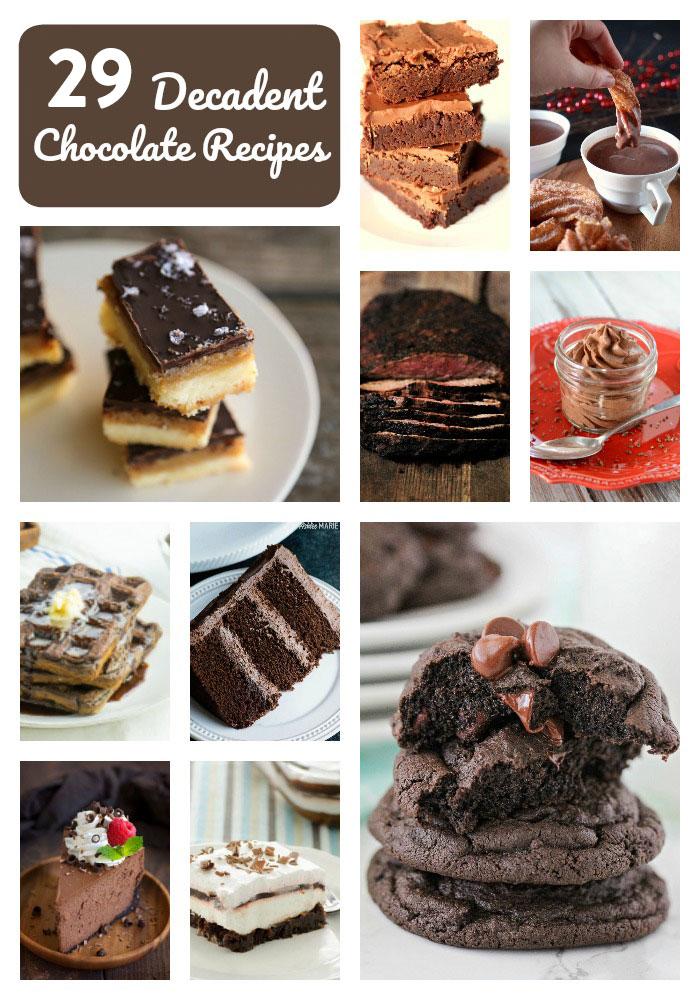 vingt-neuf recettes au chocolat décadentes