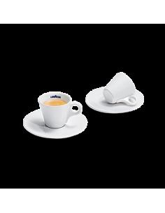 Ensemble de 6 tasses en céramique + 6 soucoupes en café en céramique LavAzza