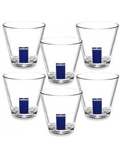 Ensemble de 6 tasses à espresso pour soucoupe en verre Macchiato +