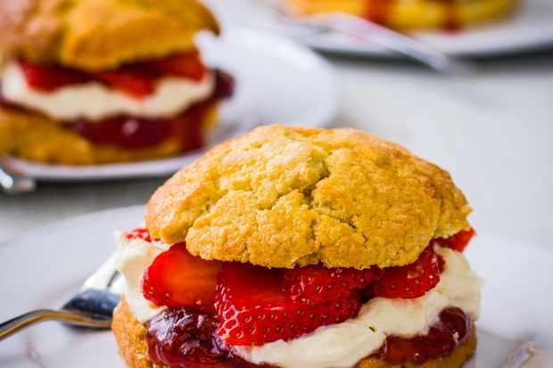 Recette de gâteau sablé aux fraises