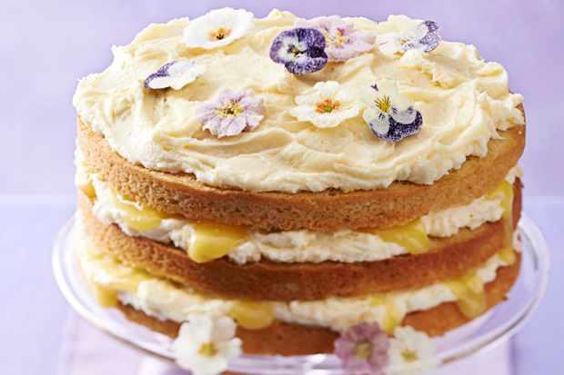 Couche de gâteau au citron