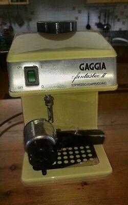 CAFÉ GAGGIA FANTASTIC MACHINE fonctionne parfaitement café vintage et cappuccino vintage