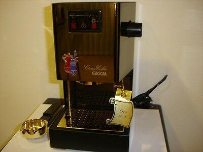 Machine à café Gaggia, doré à l'or fin 24 carats, collectionneur