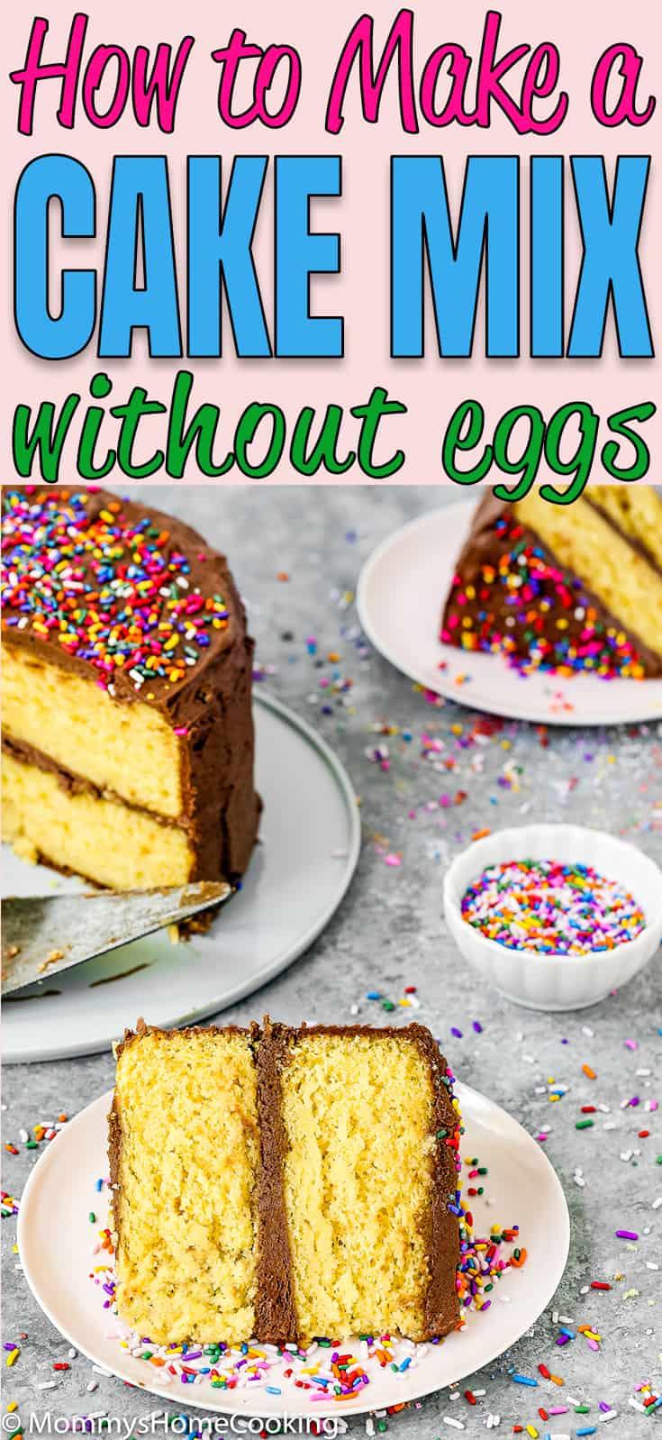"""Est-ce que vous ou quelqu'un que vous aimez êtes allergique aux œufs? Ou avez-vous juste manqué d'œufs? Ne paniquez pas! Vous pouvez toujours faire ce gâteau en boîte dont vous avez envie. Apprenez mon astuce sur comment faire une boîte de mélange de gâteau sans oeufs. Pratique pur et incroyablement délicieux! https://mommyshomecooking.com """"width ="""" 735 """"height ="""" 1598 """"srcset ="""" https://mommyshomecooking.com/wp-content/uploads/2018/05/How-to-Make-a-Cake-Mix -Box-without-Eggs-pin.jpg 735w, https://mommyshomecooking.com/wp-content/uploads/2018/05/How-tur-make-a-Cake-Mix-Box-without-Eggs-pin- 138x300.jpg 138w, https://mommyshomecooking.com/wp-content/uploads/2018/05/How-take-Make-a-Cake-Mix-Box-without-Eggs-pin-459x998.jpg 459w """"tailles = """"(largeur maximale: 735px) 100vw, 735px"""