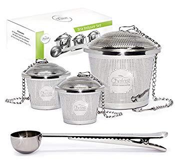 Passoires et fers à repasser en acier inoxydable réutilisables pour les thés en feuilles: photo