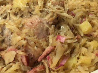 Côtelette de porc allemande et recette de choucroute