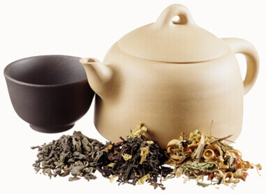étiquette de thé